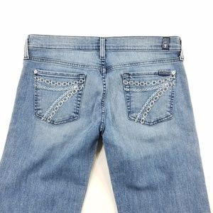 7 for All Mankind Dojo Flare Denim Stretch Jeans